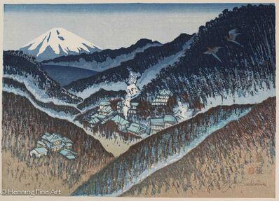 Junichiro Sekino, 'Hakone: Mt. Fuji vver the Lake', 1977