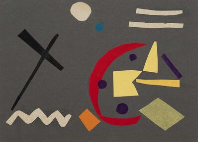 Benode Behari Mukherjee, 'Abstract Collage', 1958