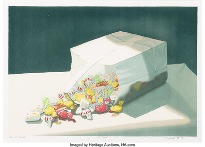 Joe Price, 'Bag of Candy, Pomegranetes, and Anthuriums with Fan', 1984-91