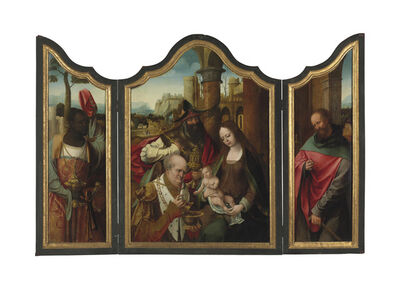 The Master of the Antwerp Adoration, 'A triptych: The Adoration of the Magi'