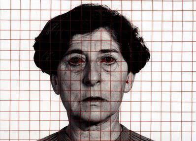 Esther Ferrer, 'Autoportrait avec yeux rouges', 1999