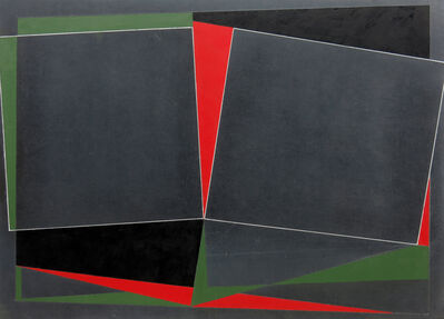 George Dannatt, 'Blackmayne: Reciprocal Forms with Red and Green, No 2', 2008
