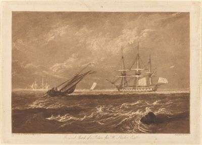 J. M. W. Turner, 'The Leader Sea Piece', published 1809