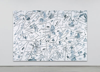 Yue Minjun, 'Maze Looking for Chinese Art-2', 2008