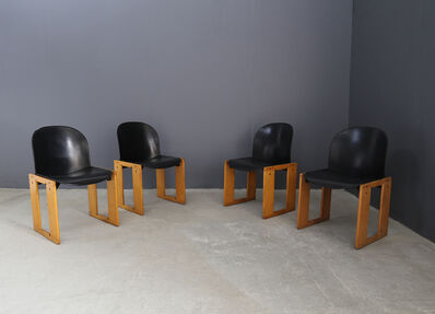 Afra and Tobia Scarpa, 'Set of 4 chairs Tobia Scarpa serious AFRA for B & B Italy. ', ca. 1965