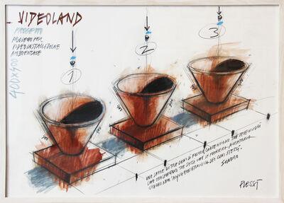 Fabrizio Plessi, 'Videoland VI', 1987