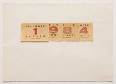 Alighiero Boetti, 'Calendario', 1984