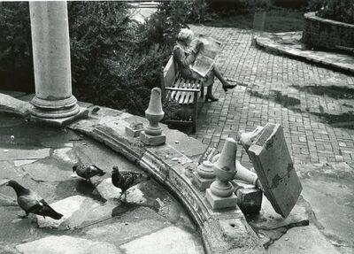 André Kertész, 'Toppled Stone Railing, England', 1980