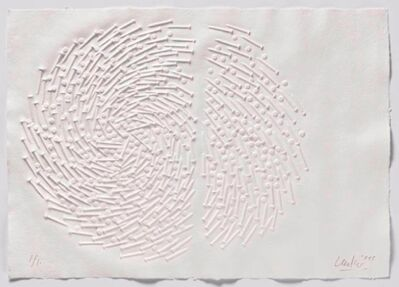 Günther Uecker, 'Huldigung an Hafez - Motiv 16 ', 2015/16
