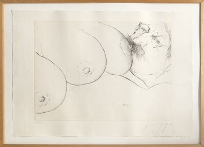 Günter Grass, 'Three Breasts', 1974