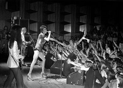 Mick Rock, 'Bowie Reaching into Crowd', 1973