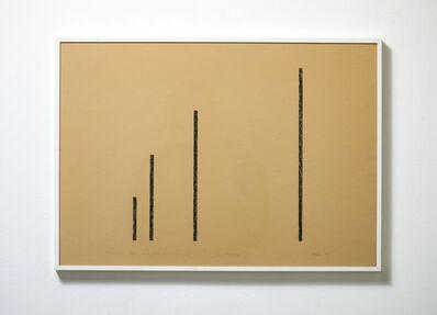 Hartmut Böhm, 'progression gegen unendlich mit 4 linien', 1985