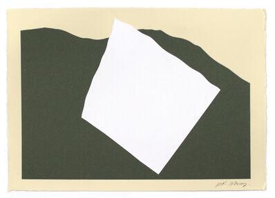 RF Alvarez, 'Composition in White and Green', 2020