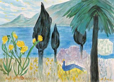Gerhild Diesner, 'Landscape with Blue Bird'