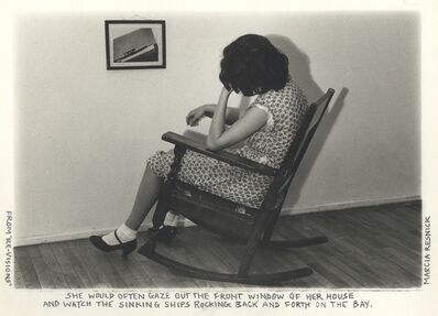Marcia Resnick, 'She would often gaze out the front window and watch the sinking ships...', 1978