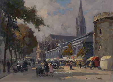 Edouard Léon Cortès, 'Les Halles et la Tour le Roy a Caen (Boulevard des Alliés, Church of Saint-Pierre)'