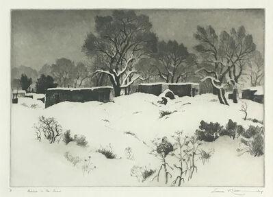 Gene Kloss, 'Adobes in the Snow', 1934