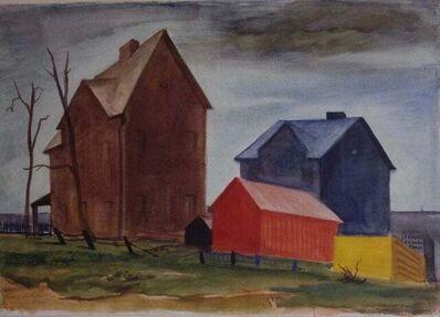 Vincent Campanella, 'ASTORIA HOUSES American Scene NYC 1936 WPA Depression Era Mid-Century Modernism', 1936