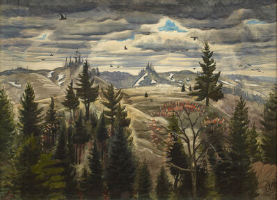 Charles Ephraim Burchfield, 'March Day, Gowanda', 1926-1933