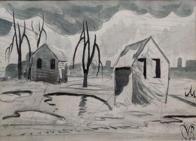 Charles Ephraim Burchfield, 'Factory Town Scene', 1920