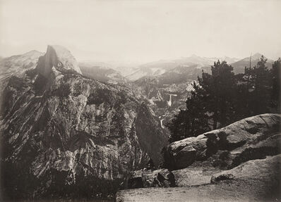 Carleton E. Watkins, 'The Half Dome, Vernal and Nevada Falls, from Glacier Point Yosemite', 1878-1881