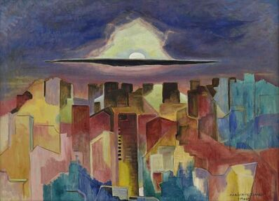 Marguerite Zorach, 'Moon Over Brooklyn', 1964