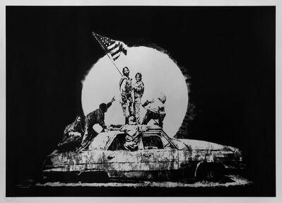 Banksy, 'Silver Flag', 2006