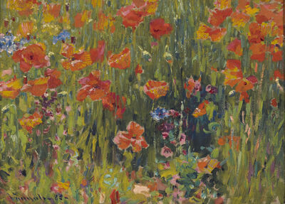 Robert William Vonnoh, 'Poppies', 1888