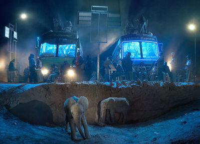 Nick Brandt, 'Bus Station with Young Elephants ', 2018
