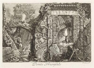 Giovanni Battista Piranesi, 'Ponte Trionfale (Triumphal bridge)'