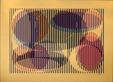 Yaacov Agam, 'Mirror Silkscreen - Geometric Abstract', 1979