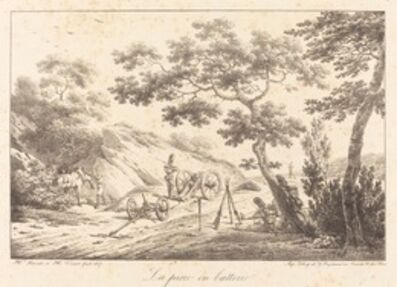 Horace Vernet, 'La piece en batterie', 1817