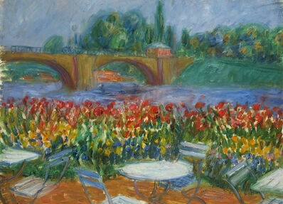 William James Glackens, 'Untitled (Bridge and Restaurant)'