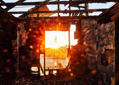 Osceola Refetoff, 'Charred House on Trinity Street - Sunset - Mojave, California 2016 ', 2016