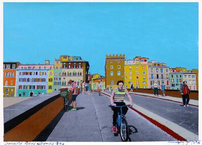 Fabio Coruzzi, 'Crossing Bridges in Florence', 2017