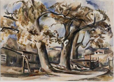 Jozef Bakos, 'Cottonwoods Along Santa Fe River, Behind Compound', 1932