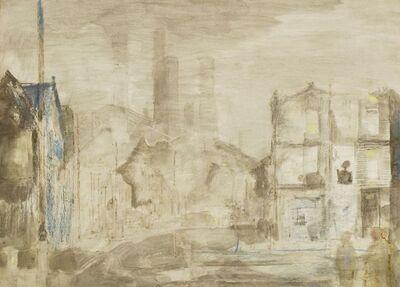 John Minton, 'LONDON STREET SCENE'