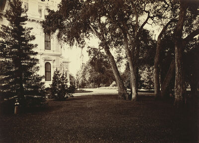 Carleton E. Watkins, 'Thurlow Lodge - Lawn and House. From Barron Cluster.', 1880