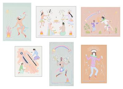 Harrison Begay, '(6) Works on Illustration Board', 20th/21st Century