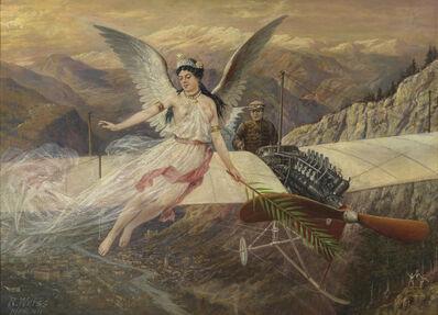 Johann Rudolf Weiss, 'Der Schutzengel des Aviatikers', 1911