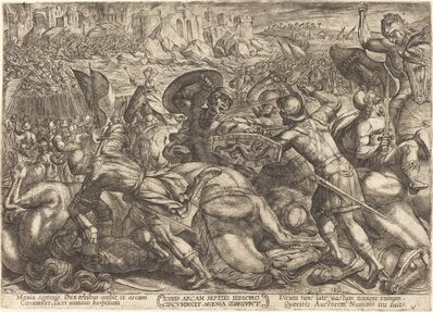 Antonio Tempesta, 'The Taking of the City of Jericho', 1613