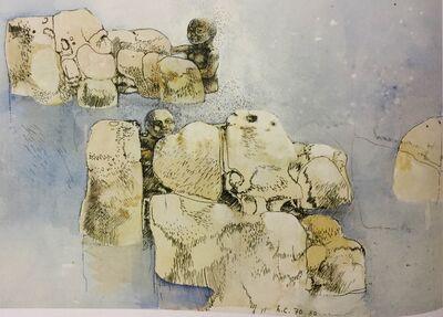 Leonardo Cremonini, 'Il bagno tra gli scogli [The Bath among the Rock]', 1970-1980