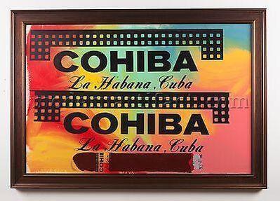 Steve Kaufman, 'Steve Kaufman  Cohiba Cigar 38x50 Original Oil Painting Pop Art Documented', 1990-2010
