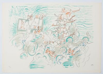 Roberto Matta, 'Five lithographies - plate 3', 1977