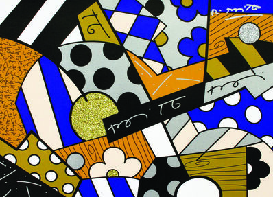 Romero Britto, 'The Blues', 2017