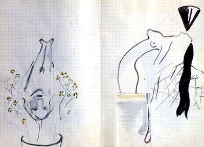 Sigmar Polke, 'Ohne Titel (Blumentopf)', 1980-1990