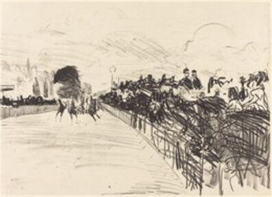 Édouard Manet, 'The Races (Les courses)', 1865