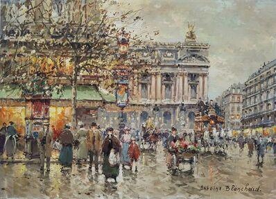 Antoine Blanchard, 'Place de l'Opera, Paris, France', ca. 1955