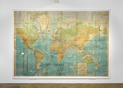 Boyle Family, 'World Series Map (1,000 sites selected at random between August 1968 & July 1969)', 1969