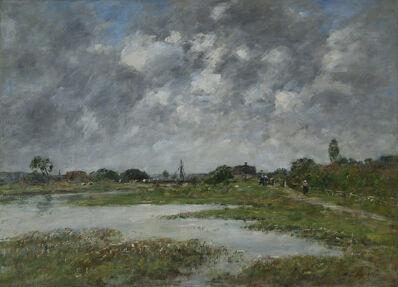 Eugène Boudin, 'La Touques à Trouville ', 1890